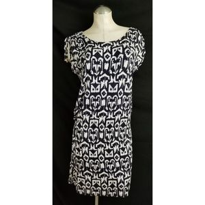 Michael Kors Size M Black Off White Dress